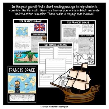 Early Explorers: Sir Francis Drake Mini-Unit & Flip Book for INB's