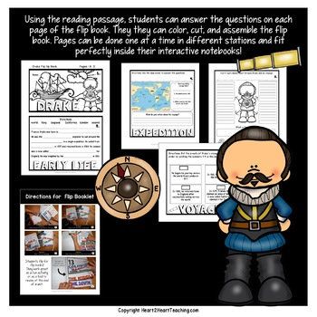 Early Explorers: Sir Francis Drake Mini-Unit & Flip Book for INB's