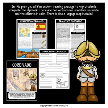 Early Explorers: Francisco Coronado Mini-Unit & Flip Book for INB's