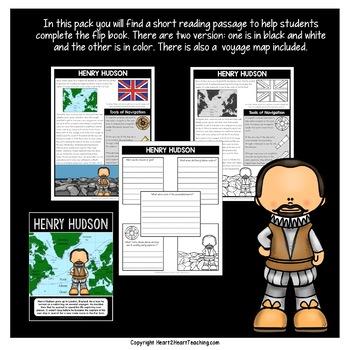Early Explorers: Henry Hudson Mini-Unit & Flip Book for INB's
