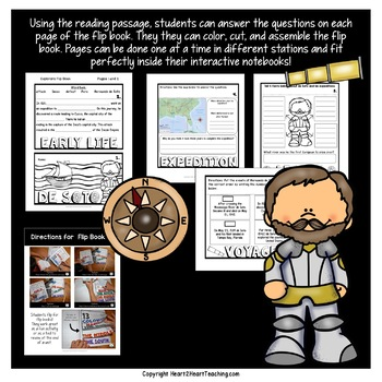 Early Explorers: Hernando de Soto Mini-Unit & Flip Book for INB's