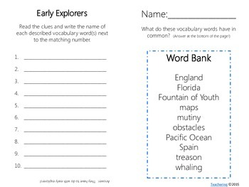 Early Explorers Task Cards {Hudson, Balboa, Ponce de Leon} with PHOTOS