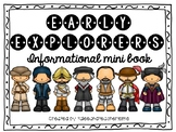 Early Explorers Informational Mini Book