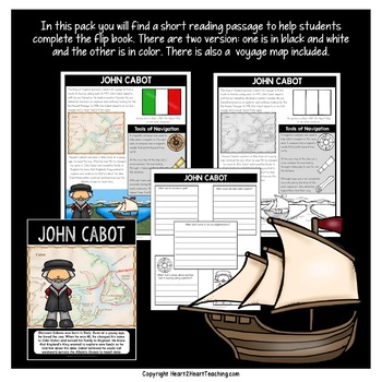 Early Explorers: John Cabot Flip Book