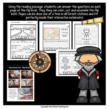 Early Explorers: John Cabot Mini-Unit & Flip Book for INB's