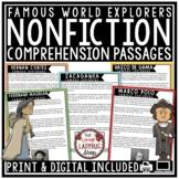 European Explorers Reading Comprehension Passages & Questions 4th Grade