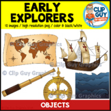 Early Explorers Objects Clip Art Bundle {Clip Guy Graphics ClipArt}