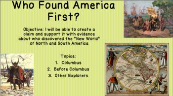 Early Explorers Presentation (Columbus, Vespucci, Erikson)