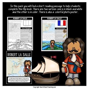 Early Explorers: Robert La Salle Mini-Unit & Flip Book for INB's