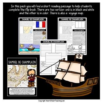 Early Explorers: Samuel de Champlain Mini-Unit & Flip Book for INB's