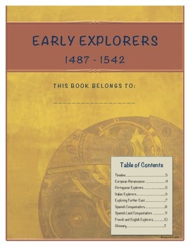 Early Explorers Student Note Taking Booklet (United States History)