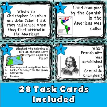 Early Explorers Task Cards
