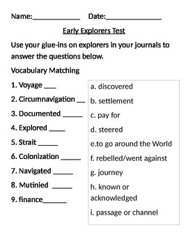 Early Explorers Test
