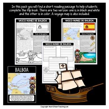 Early Explorers: Vasco Núñez de Balboa Mini-Unit & Flip Book for INB's