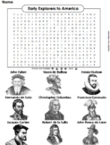 Early Explorers to America Word Search