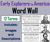 Early Explorers to America Word Wall Cards (The Age of Exploration Unit)