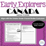 Early Explorers Poster - Social Studies and Media (Grade 5 Ontario)