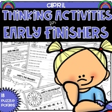 Early Finishers Thinking Puzzles for April Distance Learning Home School Packet