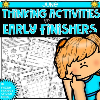 Early Finishers Thinking Puzzles for June