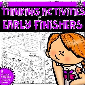 Early Finishers Thinking Puzzles for May