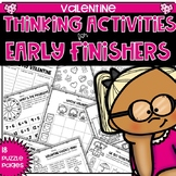 Early Fininshers Thinking Puzzles for Valentine's Day