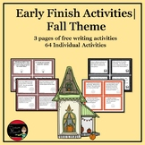 Fall Early Finish Activities Bundle