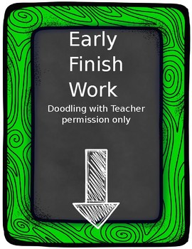 Early Finish Chalkboard Sign