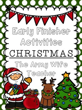 Early Finisher Activities : Christmas
