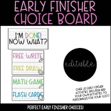 Early Finisher Activities - Early Finisher Choice Boards