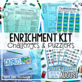 Early Finisher Activities | Math Enrichment | August | Emergency Sub Plans