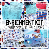 Early Finisher Activities | Math Enrichment | July