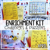 Early Finisher Activities | Math Enrichment | April