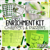 St. Patrick's Day Early Finisher Activities | Math Enrichment March