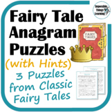 Fairy Tale Anagram Puzzles Freebie (with Hints)