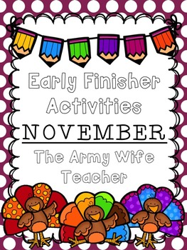 Early Finisher Activities : November