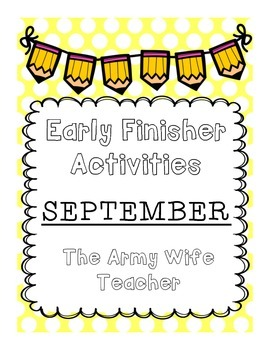Early Finisher Activities : September