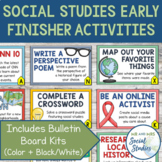 Early Finisher Activities for Social Studies (26 Activitie