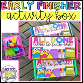 Early Finisher Activity Box: Safe for Back to School