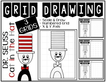 Early Finisher Activity - CAT IN THE HAT Grid Drawing