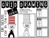 CAT IN THE HAT Grid Drawing - NO PREP