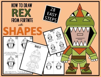 Early Finisher Activity Draw With Shapes Fortnite Rex Tpt