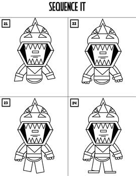 Early Finisher Activity - Draw with Shapes - FORTNITE REX