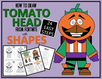 Early Finisher Activity - Draw with Shapes - FORTNITE TOMATO HEAD