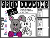 EASTER BUNNY Grid Drawing - NO PREP