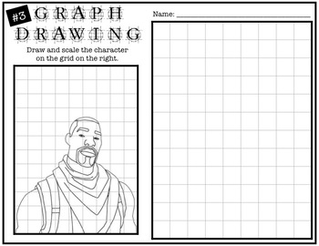 Early Finisher Activity - Fortnite Grid Drawing #3