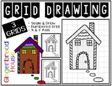 GINGERBREAD HOUSE Grid Drawing - NO PREP