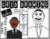 MARTIN LUTHER KING Grid Drawing - NO PREP