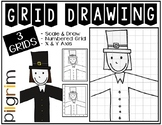 Early Finisher Activity - Thanksgiving PILGRIM Grid Drawing