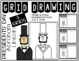 Early Finisher Activity - President's Day ABRAHAM LINCOLN Grid Drawing