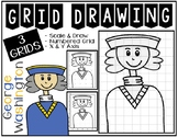 Early Finisher Activity - President's Day GEORGE WASHINGTON Grid Drawing